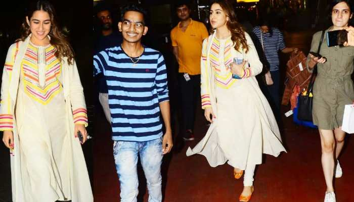 PICS: Sara Ali Khan spotted in a traditional look at the airport