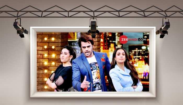 Malaika Arora and Karisma Kapoor for shoot of Movie   Masti with Maniesh Paul