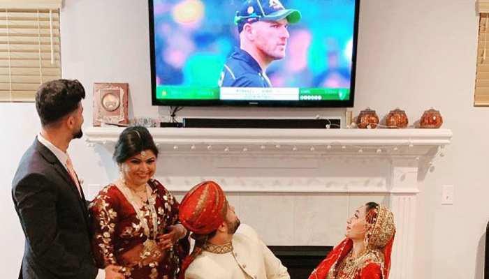 पाकिस्तानी क्रिकेट फैन शादी के खास लम्हों को छोड़ देखने लगा मैच, ICC ने जारी की तस्वीर