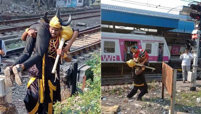 Western Railway appoints yamaraj tocreate awareness among people who cross railway line