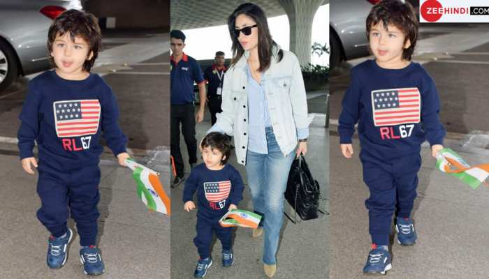 Kareena Kapoor Khan spotted at the Airport with Taimur Ali Khan