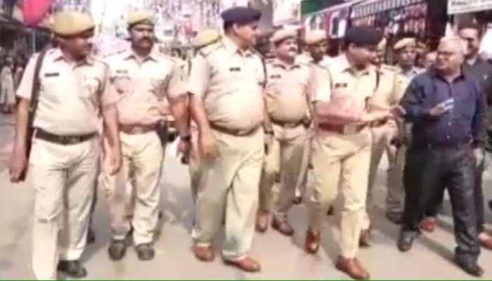 अजमेर: अयोध्या फैसले के बाद SP ने किया संवेदनशील इलाकों का दौरा, कहा - सांप्रदायिक सौहार्द बरकरार