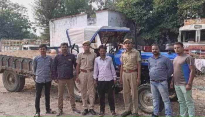 अजमेर: अवैध खनन के खिलाफ कार्रवाई, ट्रक सहित एक शख्स गिरफ्तार