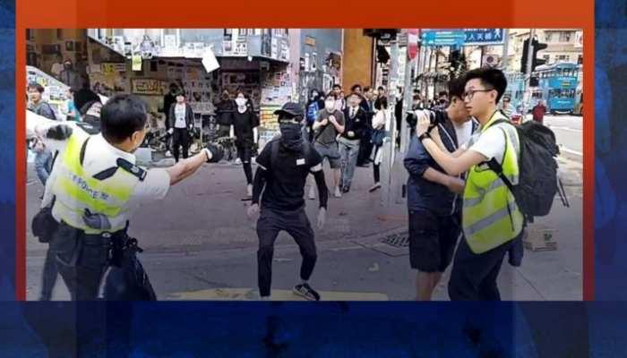 हॉन्ग कॉन्ग में पुलिस ने प्रदर्शनकारी के सीने पर मारी गोली, दिल दहला देने वाला VIDEO