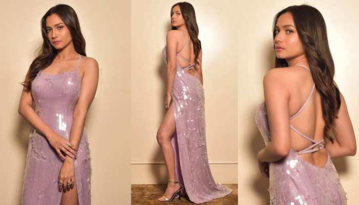 Naagin 4 Actress Ankita Lokhande bold photoshoot in thigh high slit dress goes viral on internet
