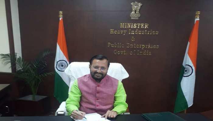 प्रकाश जावडेकर ने संभाला भारी उद्योग मंत्रालय का कार्यभार, शिवसेना के नेता अरविंद सावंत ने दिया था इस्तीफा