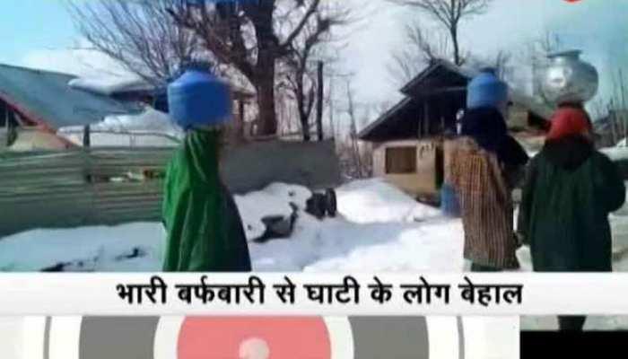 जम्मू कश्मीर: भारी बर्फबारी से बिजली विभाग को 100 करोड़ का नुकसान