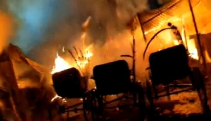 दरभंगा: ओवरब्रिज के नीचे दुकानों में लगी भीषण आग, लाखों का नुकसान