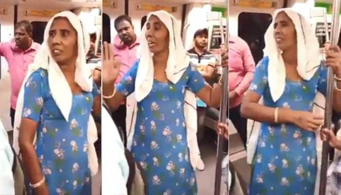 VIDEO: मेट्रो में कपल की हरकत देख भड़क गईं 'ताई', ठेठ भाषा में यूं लगाई लताड़