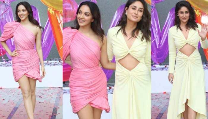 see the photos of 'Good News' trailer launche, Kiara Advani and Kareena rocking