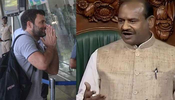 लोकसभा स्पीकर ने पूछा कहां हैं राहुल गांधी? किसी ने कोई जवाब नहीं दिया