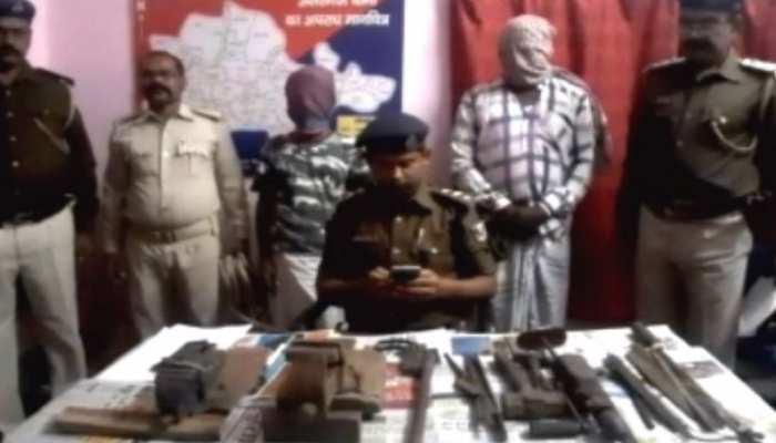 बिहार: मुंगेर में 2 मिनी गन फैक्ट्री का उद्भेदन, भारी मात्रा में हथियार बरामद, 2 गिरफ्तार
