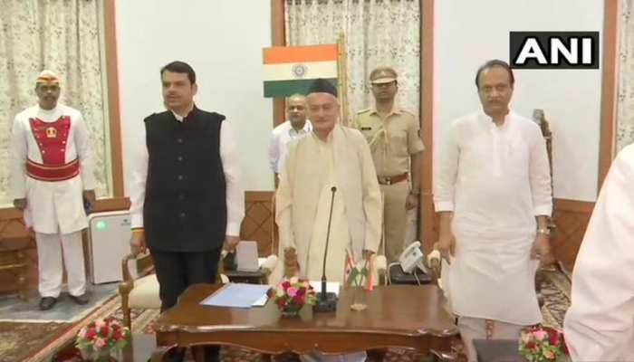 महाराष्ट्र में फडणवीस ने अजित पवार के समर्थन से सरकार बनाई