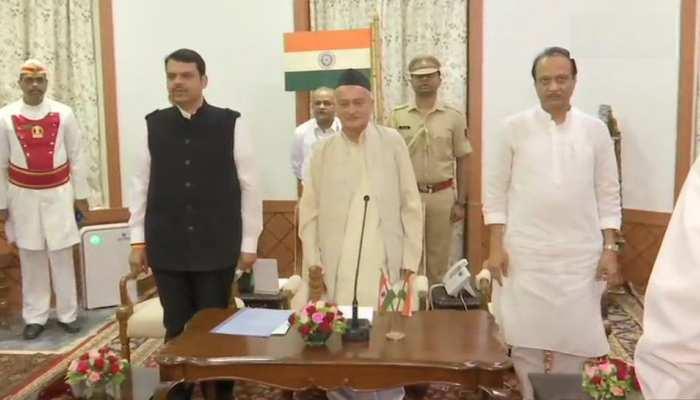 महाराष्ट्र से हटा राष्ट्रपति शासन, 8.05 बजे राज्यपाल ने दिलाई फडणवीस-पवार को शपथ