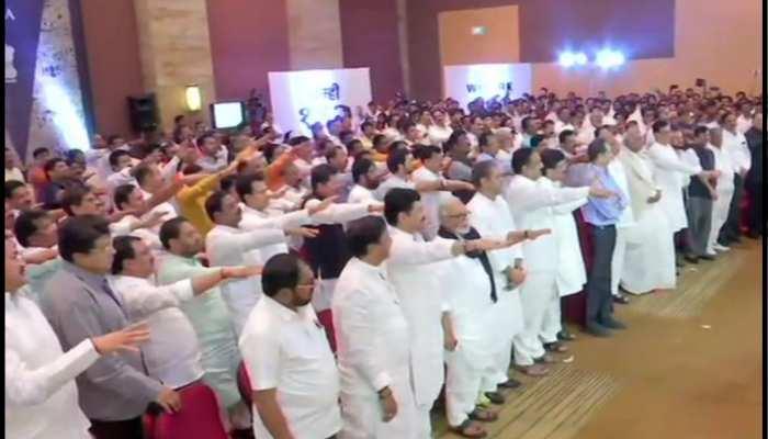 कांग्रेस, शिवसेना और NCP का शक्ति प्रदर्शन! 162 विधायकों ने ली शपथ