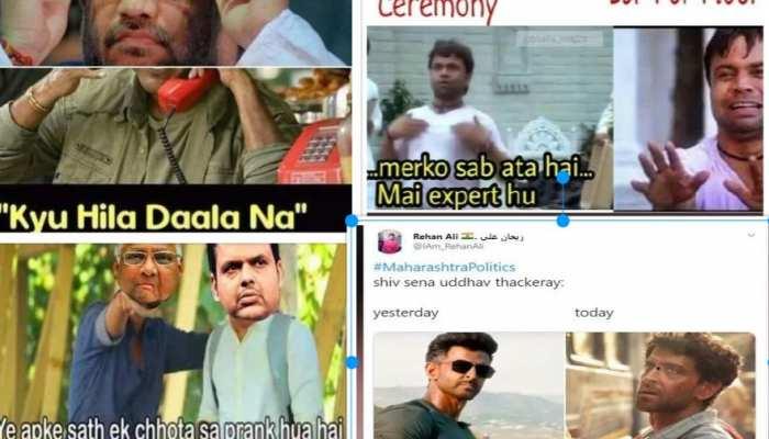 महाराष्ट्र की राजनीति पर बने MEMES ने भी मचाया तहलका