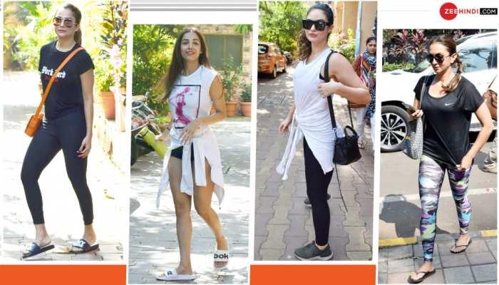 Amrita Arora, Malaika Arora, Gabriella Demetriades and Seema khan spotted at Diva Yoga in Bandra