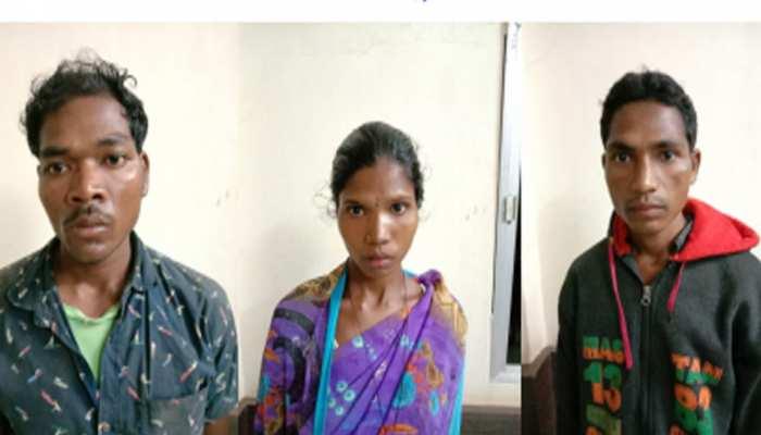 दंतेवाड़ा पुलिस ने एनकाउंटर के दौरान महिला समेत 3 इनामी नक्सलियों को किया गिरफ्तार