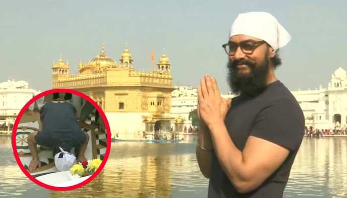 Aamir Khan arrives at Golden Temple, shooting for 'Lal Singh Chaddha' in Punjab