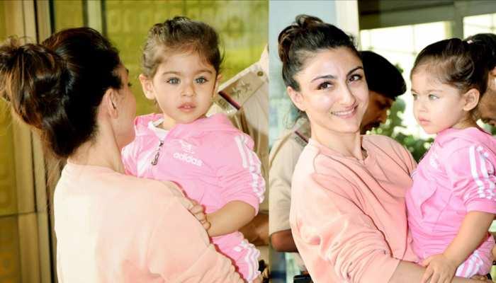 Kunal Khemu Soha Ali Khan and Inaaya Naumi Kemmu Spotted at Airport