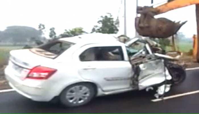 झालावाड़: बारातियों से भरी कार में ट्रक ने मारी टक्कर, 3 की मौके पर मौत
