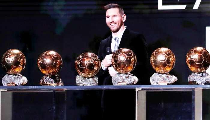 Ballon d'Or: मेसी ने रिकॉर्ड छठी बार जीता बैलन डी'ओर अवॉर्ड, रोनाल्डो पीछे छूटे