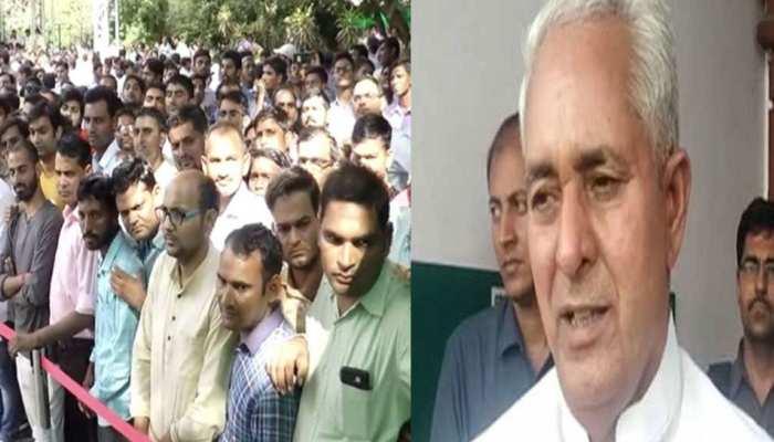 जयपुर: कार्यकर्ताओं के अभाव में कांग्रेस कार्यालय में ही शुरू हुई जनसुनवाई, मंत्री जी बोले...