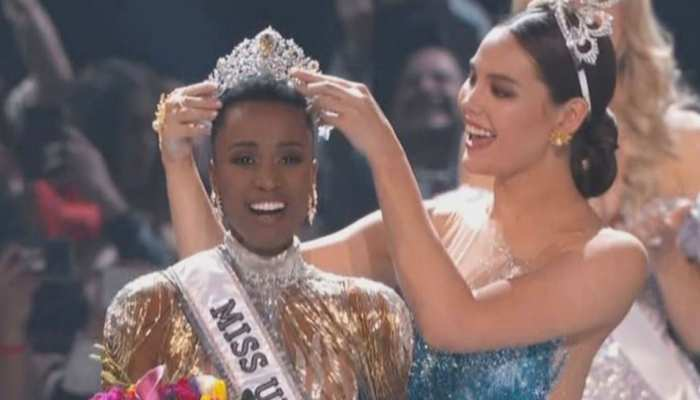 South Africa's zozibini tunzi wins 2019 miss universe crown