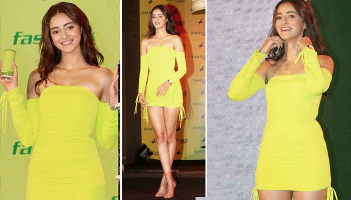 Ananya Panday looked very beautiful in a yellow dress, See Pics