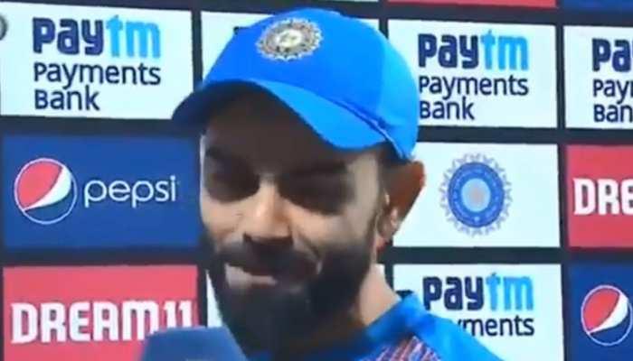 VIDEO: टी-20 सीरीज जीतने के बाद कोहली की जुबां पर आया अनुष्का का नाम, कही ये बात