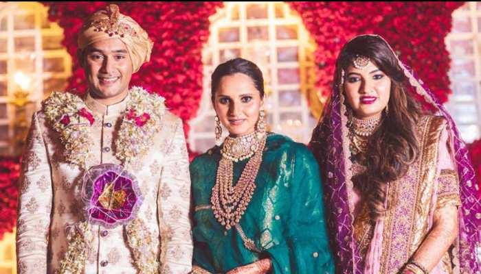 VIDEO: सानिया मिर्जा की बहन दूसरी शादी कर बनीं मोहम्मद अजहरुद्दीन की बहू