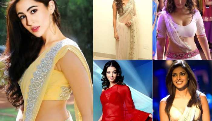 Bollywood actresses in saree and traditional indian dresses