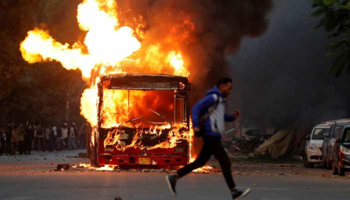 Citizenship Act Voilence Protests Buses Set On Fire In South Delhi