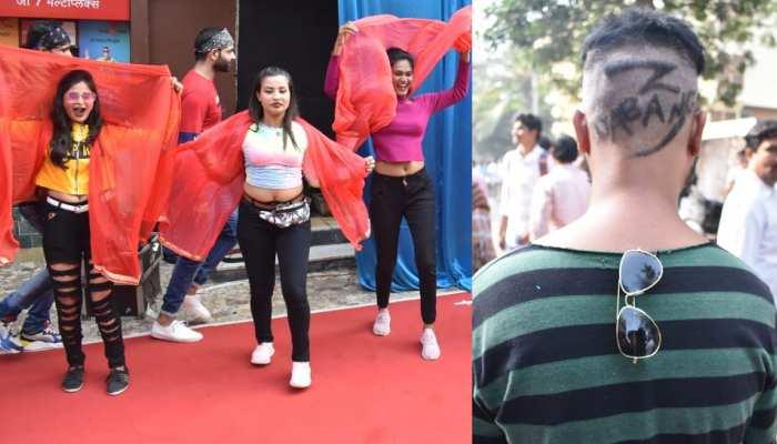 DABANGG 3: salman khan fans celebrationg outside the theater, see photos