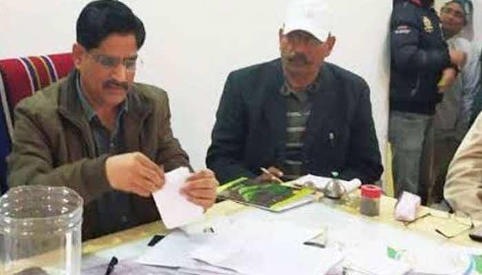 प्रतापगढ़ के छोटी सादड़ी में पंचायत चुनाव के लिए निकाली गई लॉटरी