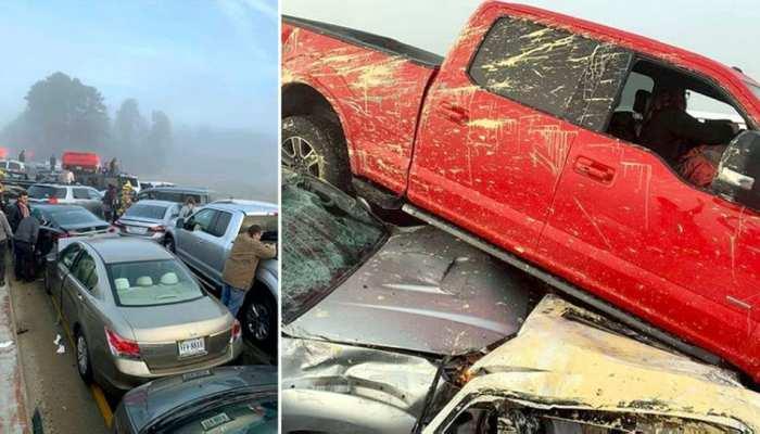 अमेरिका में हाईवे पर एक के बाद एक आपस में भिड़ गए 60 वाहन, 50 घायल