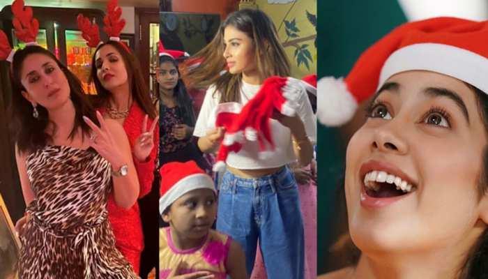 PHOTOS: करीना, जाह्नवी, मौनी से आलिया तक क्रिसमस के रंग में यूं डूबा बॉलीवुड!