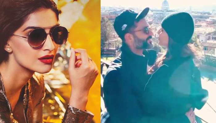 न्यू ईयर पर रोमांटिक हुईं सोनम कपूर, पति को किस करते हुए VIDEO वायरल