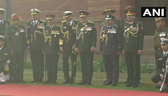PICTURES: CDS General Bipin Rawat with his team and