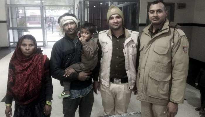 दिल्ली: पांच घंटे के भीतर पुलिस ने तीन साल के बच्चे को माता-पिता से मिलवाया