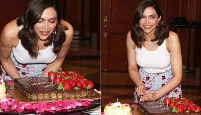 VIDEO: दीपिका पादुकोण ने रणवीर के बिना मनाया प्री बर्थडे बैश, जमकर हुई मस्ती और काटा केक!