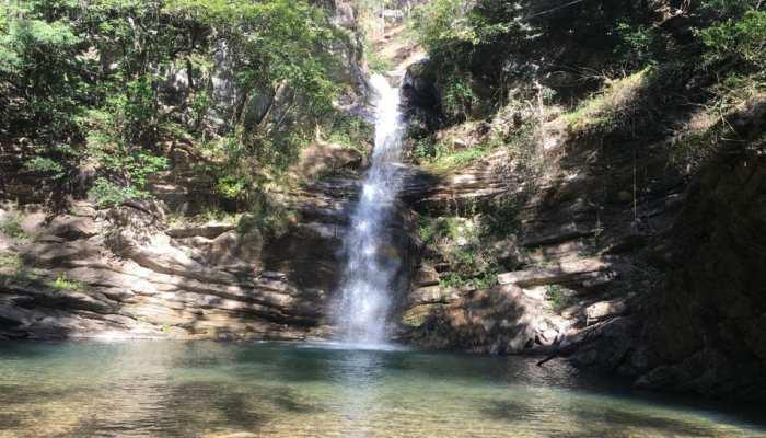 Watch amazing photos of satrangi waterfall of nainital