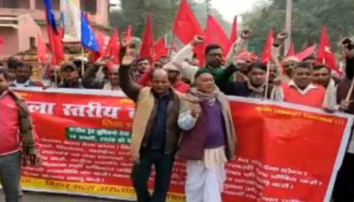 धनबाद में दिखा भारत बंद का असर, कोयला माइंस से लेकर बैंक तक रहे बंद