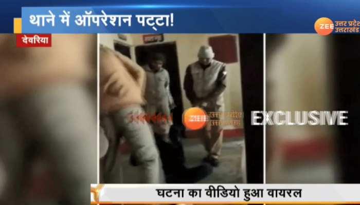 UP: मोबाइल चोरी के आरोपी युवक को पुलिसकर्मियों ने बुरी तरह पीटा, वीडियो हुआ वायरल