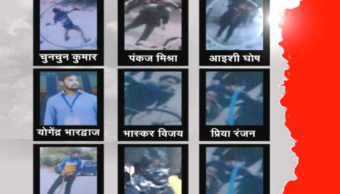 JNU violence incident Delhi Police releases photos of suspects caught on CCTV camera