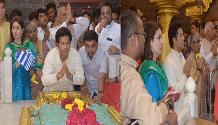 PHOTOS: Sachin Tendulkar and family pay visit to Shirdi Sai Baba temple