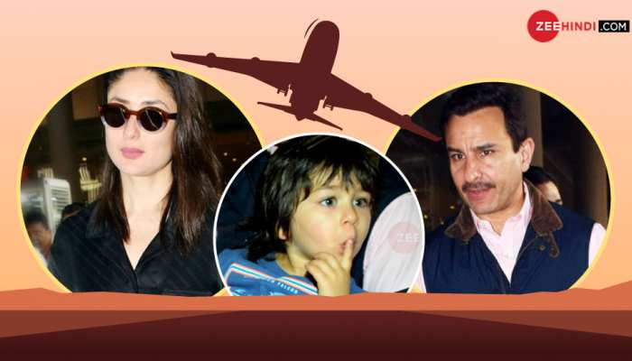 Saif Ali Khan with family spotted at airport