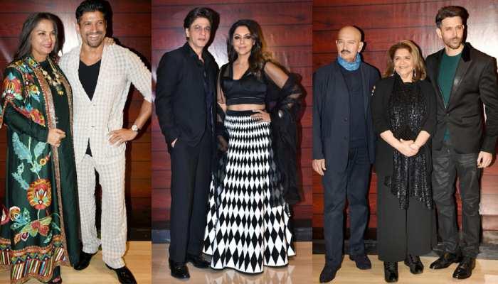 Shahrukh Khan Hrithik Roshan, Deepika Padukone, Madhuri Rekha attend birthday party of javed Akhtar