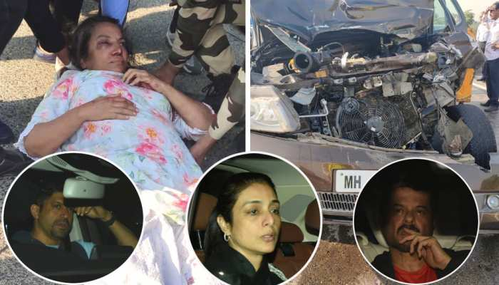 Shabana Azmi injured in car accident  Farhan Akhtar  Tabu and other bollywood actress reach hospital