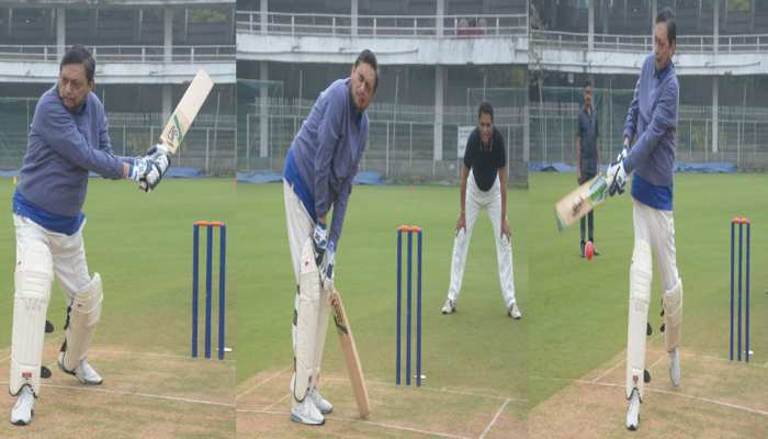 Chief Justice of India, Sharad Arvind Bobde played cricket with judges and lawyers in Nagpur